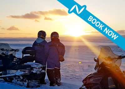 Snowmobile tour from Lake Myvatn
