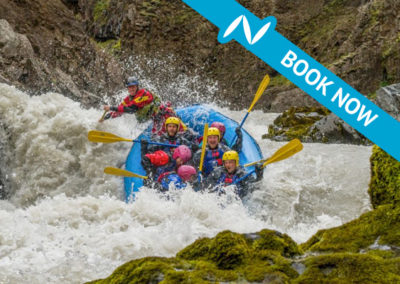 Whitewater action – River rafting