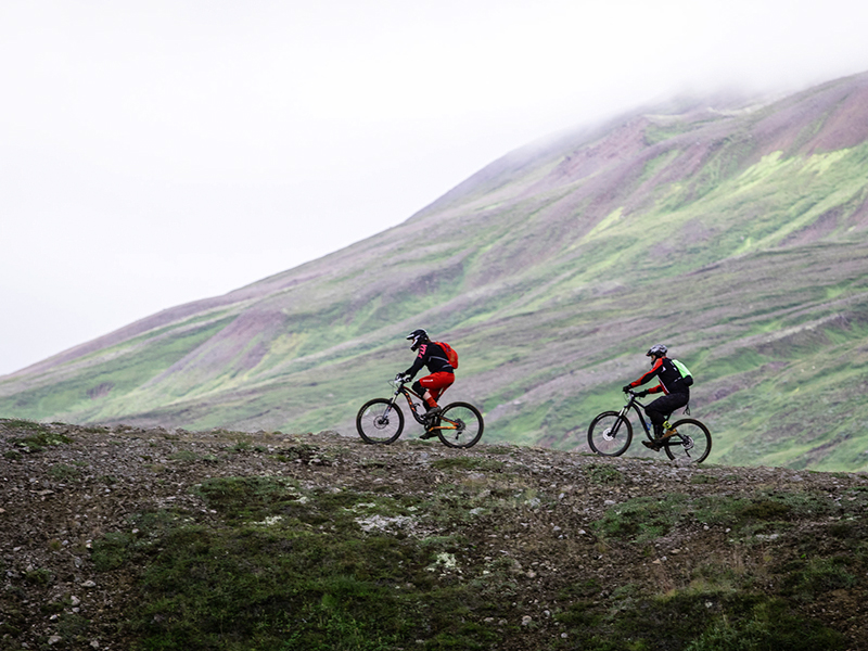 Mountain biking in North Iceland