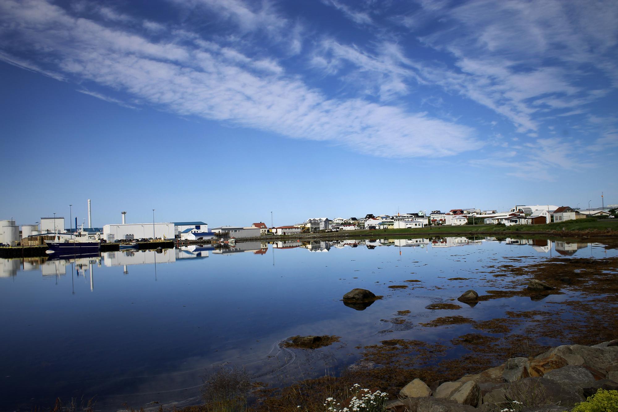 Þórshöfn North iceland harbor seaside town